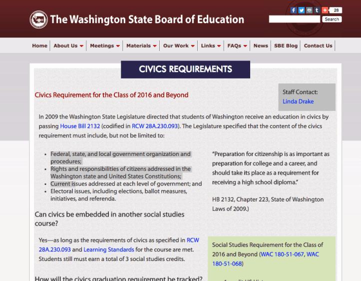 http://www.sbe.wa.gov/GradRequirements/Civics.php#.WCYyU-ErKV4
