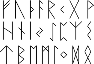The elder Futhark, oldest Germanic writing system.