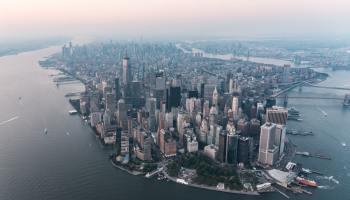 New York City bird's eye view