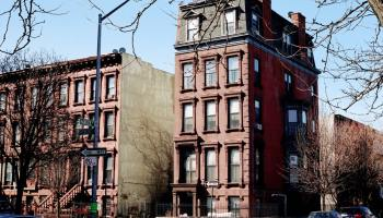 A rented apartment building in New York to show rent control