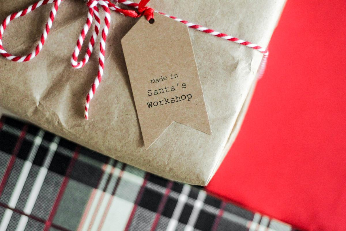 A christmas present wrapped