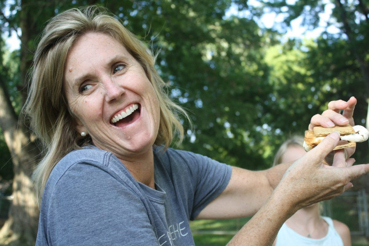 woman over 40 living with roommates and enjoying herself