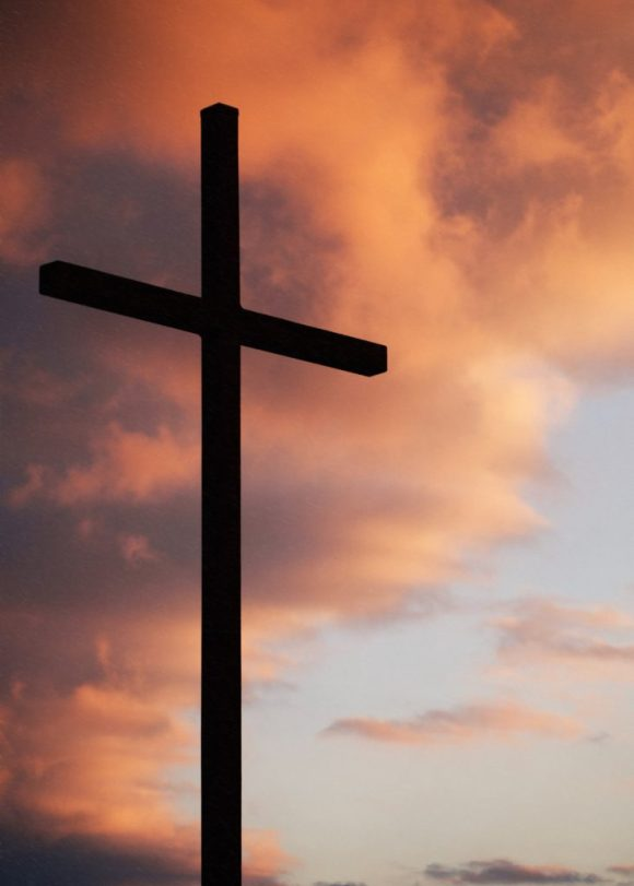 A cross against the sunset