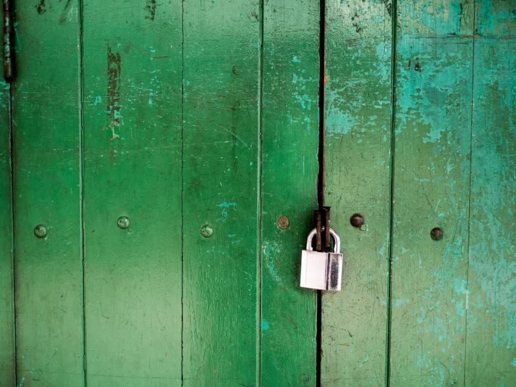 A lock on the door.