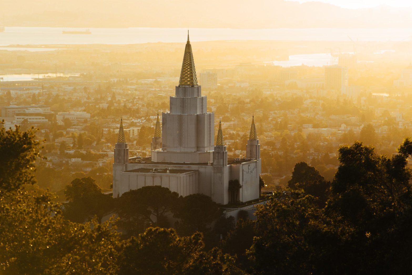 Sunset at Oakland California Temple.