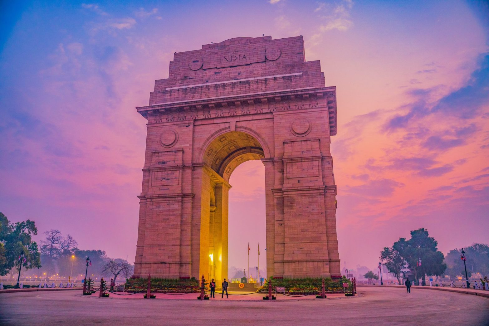 India Gate early in the morning, in New Delhi