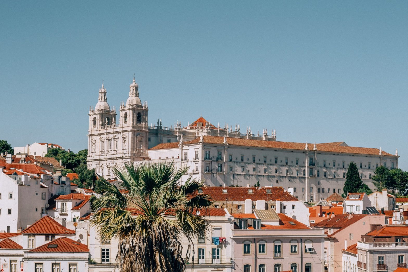 View of Alfama Neighborhood in Lisbon, Portugal