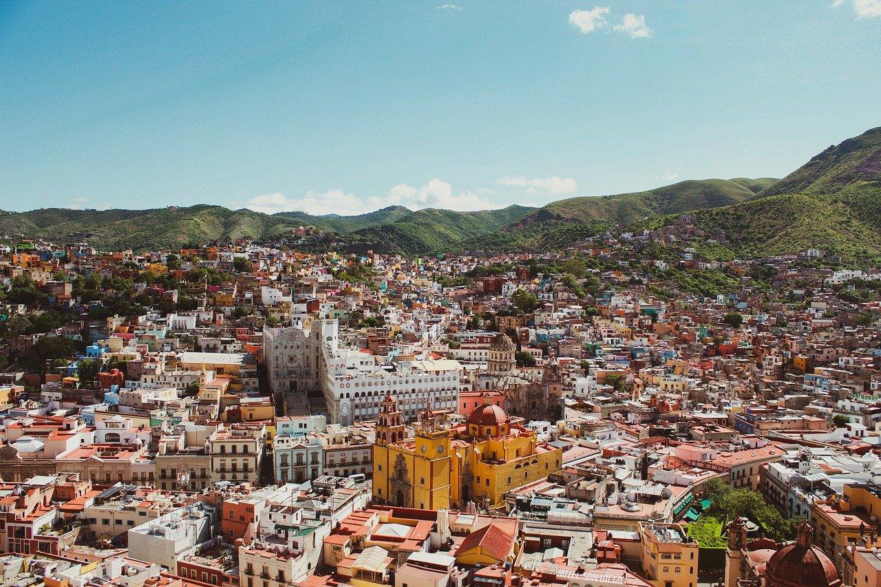 Birds eye view of Mexico city