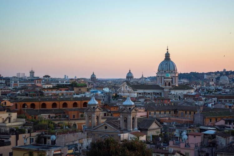 Image of Rome with the Vatican in background