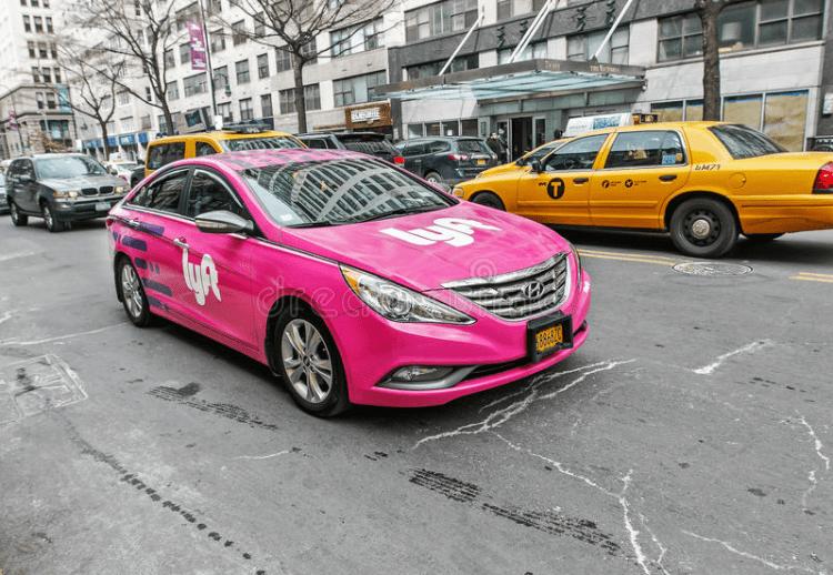 lyft on New York streets
