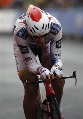 Cancellara. 2009ko Vueltako 7. etapan garaipena