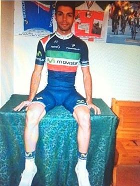Visconti Movistar taldeko maillot berria soinean