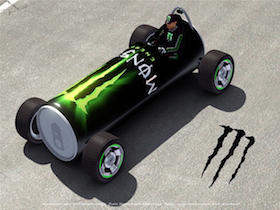 Monster Drink autoa
