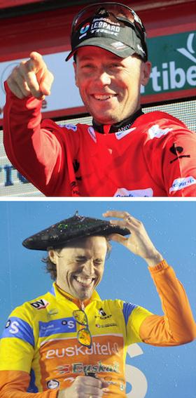 Hornerrek 2013ko Vuelta irabazi zuen. Samuk 2012ko Itzulia irabazi zuen