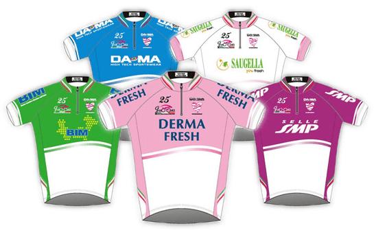 Giro Rosa 2014. Maillotak