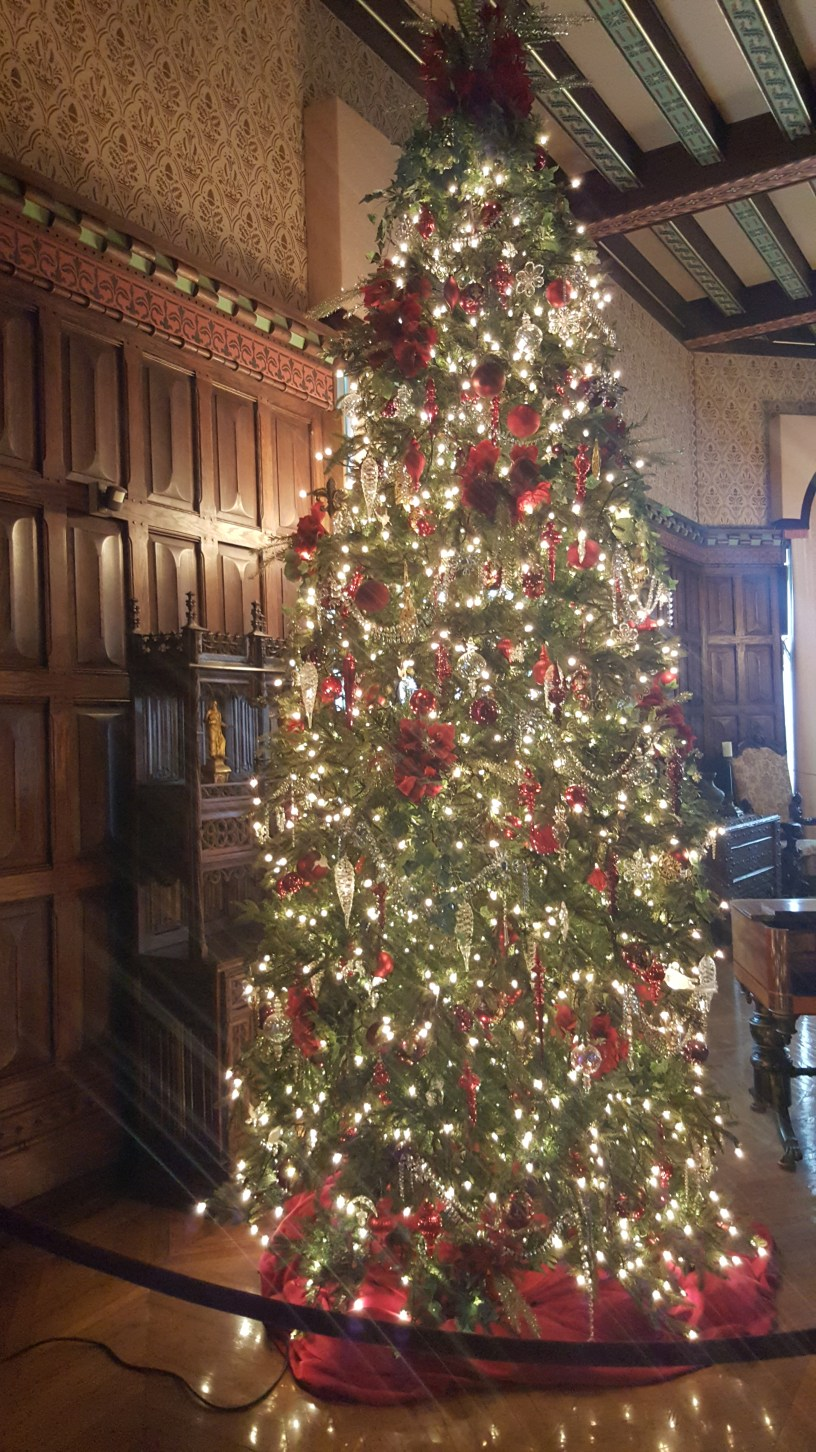 The BIltmore has 250 rooms. There are 36 trees decorated for Christmas.