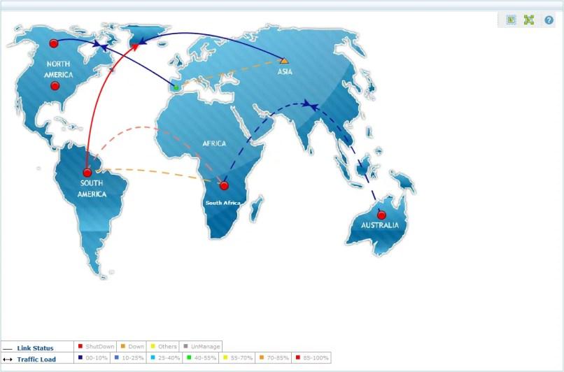 Mapa de Rede Global