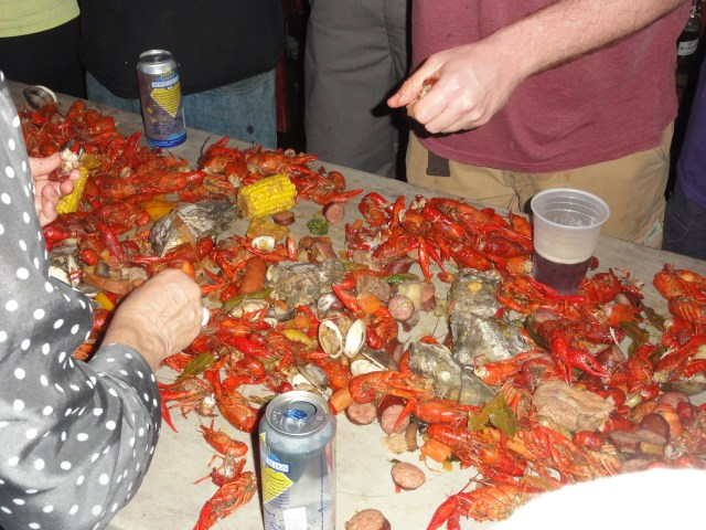 Crawfish party at Maple Leaf