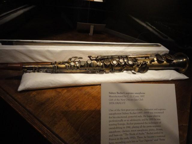 saxophone soprano de Sidney Bechet