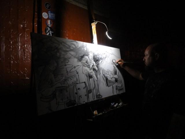 Peinture réalisée en direct