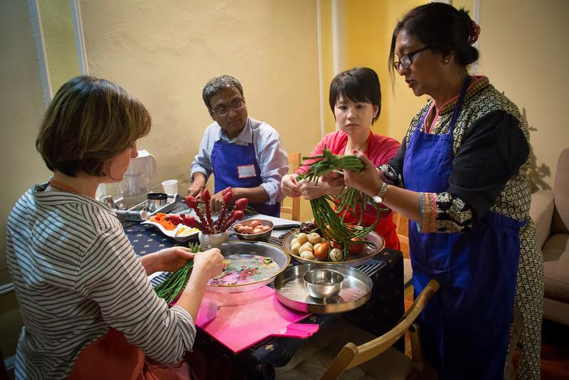 cooking class with immigrants