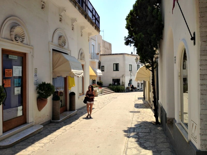 Walking the quiet streets of Anacapri
