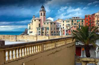 The promenade in Camogli, in Italy's Golfo Paradiso. Find out what makes this one of the best attractions in italy.