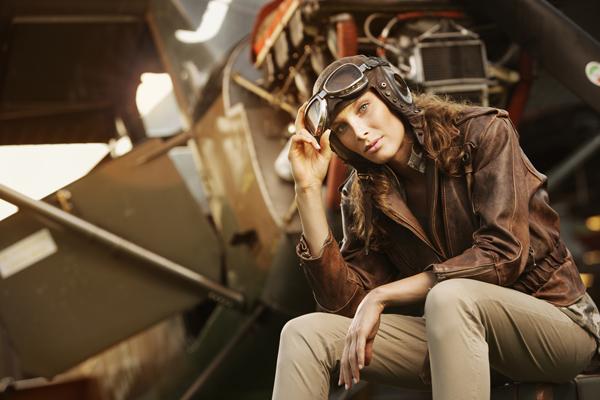 chaqueta aviador mujer