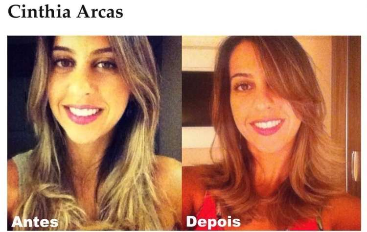 Cinthia Arcas_Long Bob Hair_antes e depois