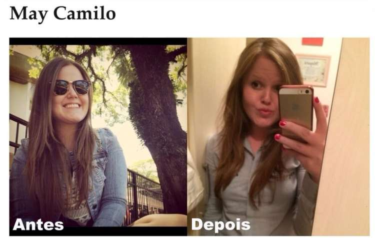 May Camilo_corte cabelo comprido e repicado_antes e depois