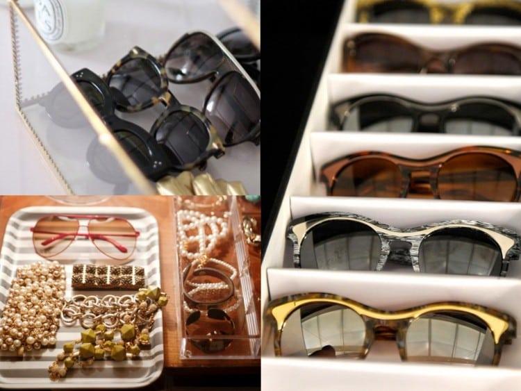 Organizando oculos de sol