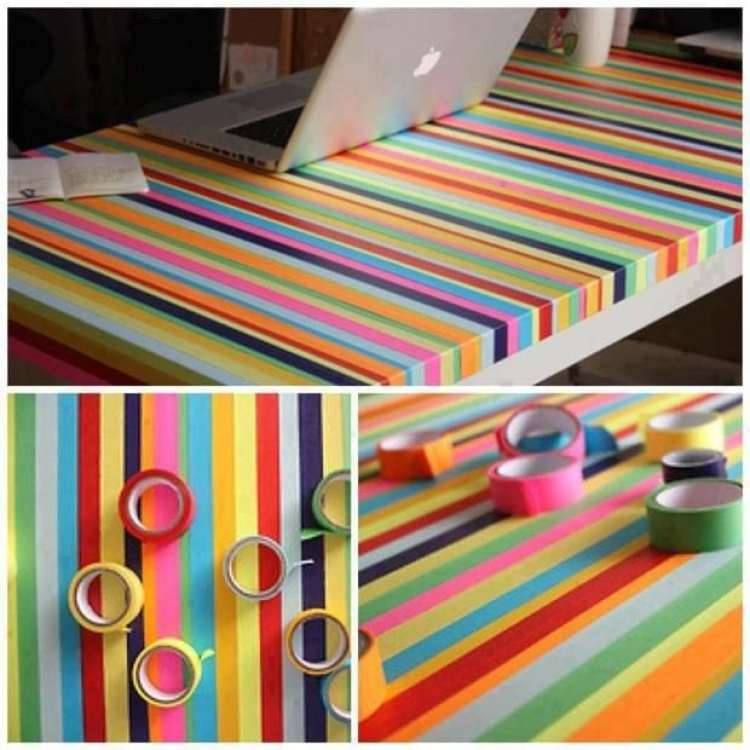 Washi Tape na mesa