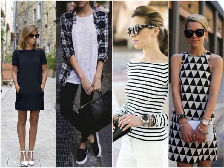 a melhor escolha_inspiracao look preto e branco