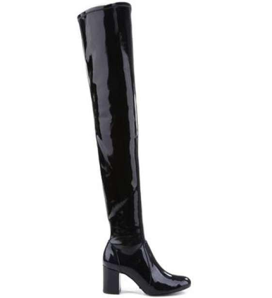 botas maxi over the knee e verniz