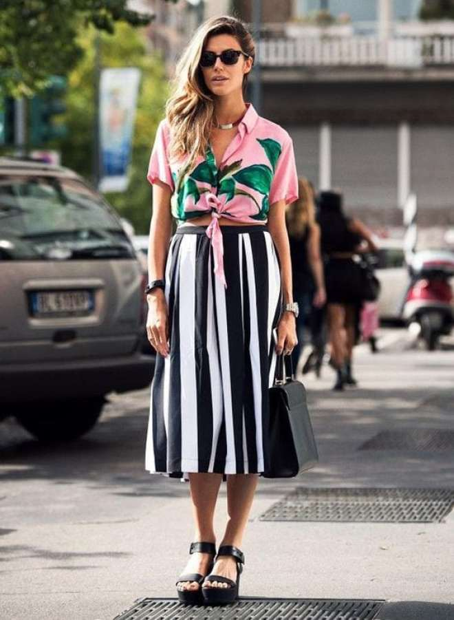 post sobre tipos de saia, inspirações de looks e como usar
