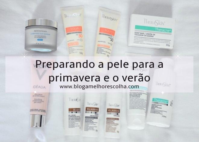 dicas de produtos para pele com o objetivo de clarear, prevenir e tratar acne, tirar a oleosidade, tratar sinais de envelhecimento e proteger no sol