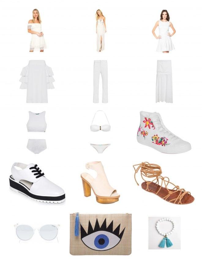 Inspiração de looks total branco para o ano novo