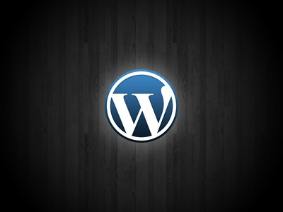WordPress sobre madera
