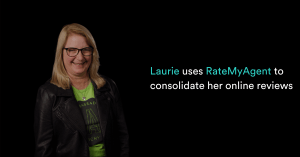 Laurie uses RateMyAgent to consolidate her online reviews