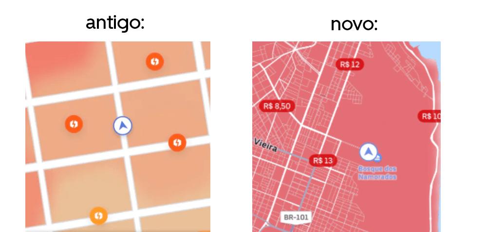 Novo preço dinâmico da Uber