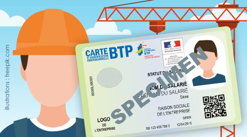 carte identification btp 2016