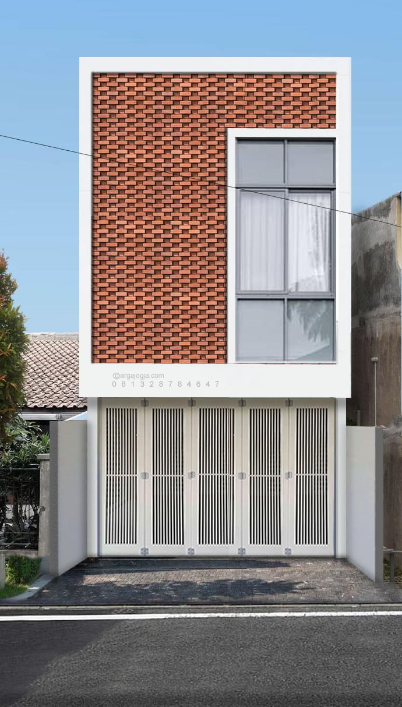 Fasad Ruko Modern : fasad, modern, Desain, Fasad, Minimalis, Dengan, Ekspos, Argajogja's