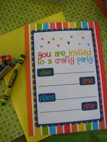 FREE Arts Crafts Party Printables from Sugarsticks