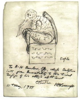 Croquis de Lovecraft, Wikipédia - Lovecraft et Grand Cthulhu