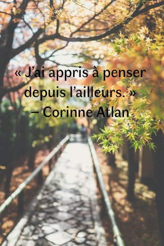 Rencontre Corinne Atlan - photo automne