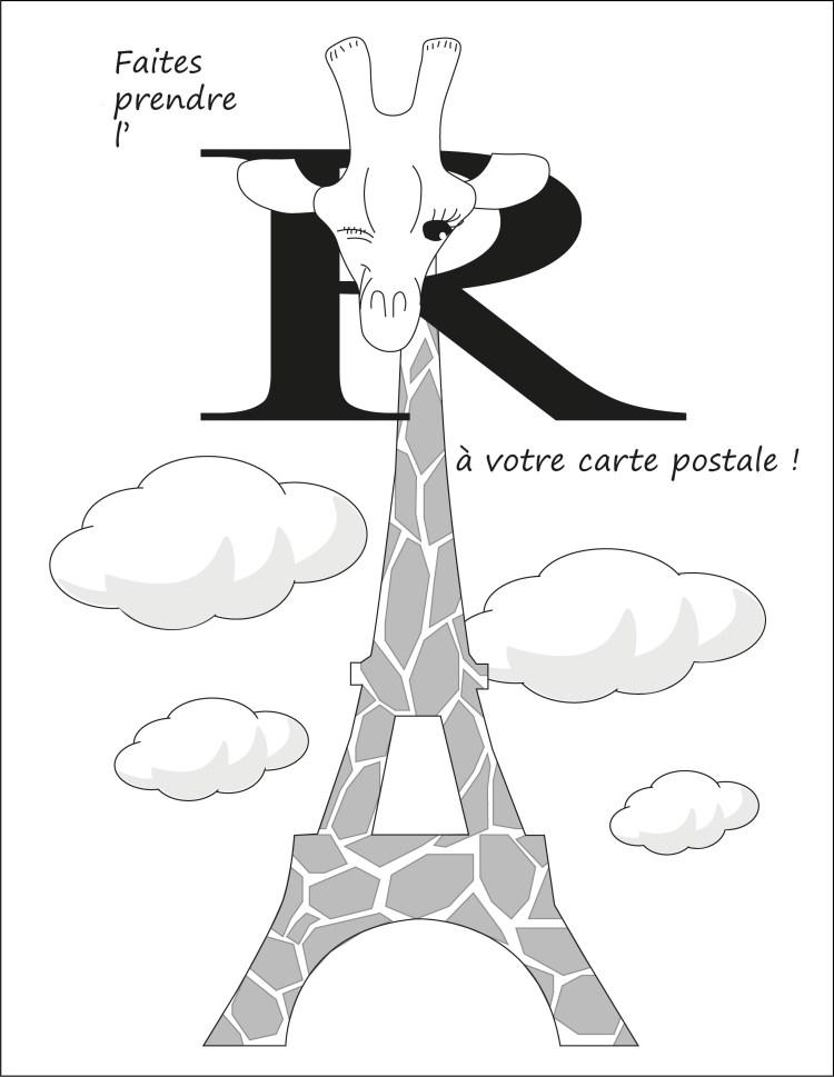Paris'écrit - carte postale