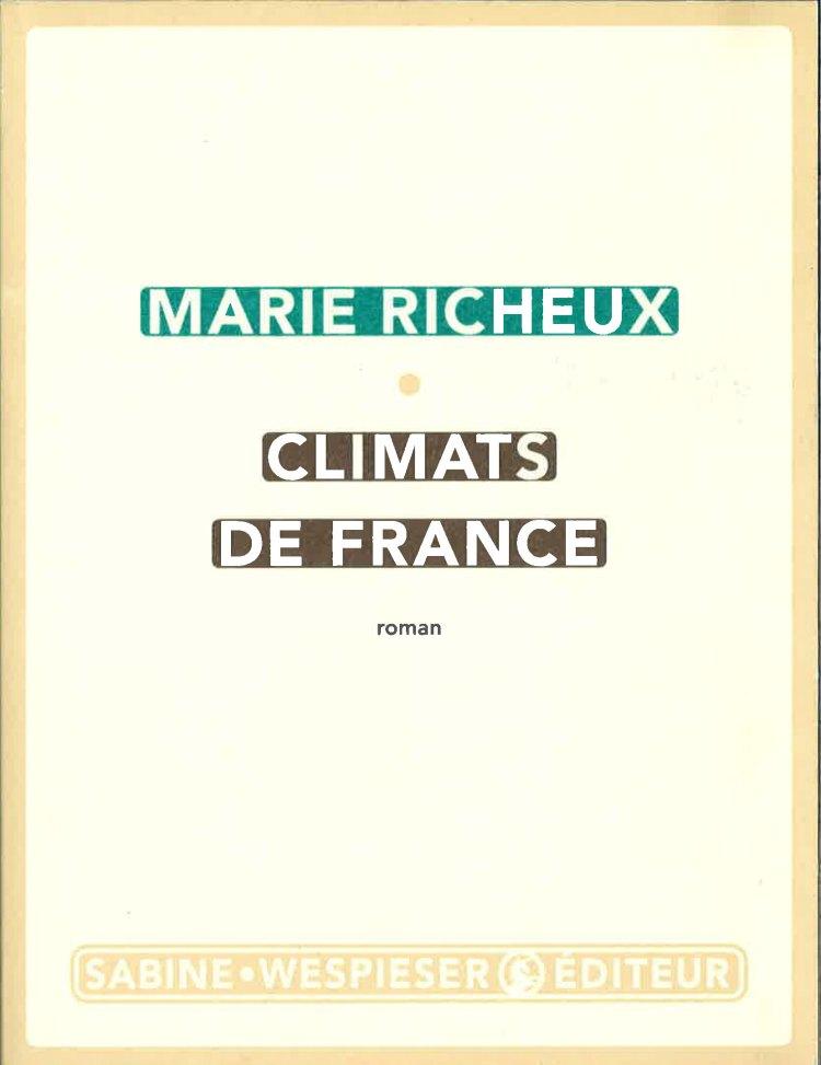 A LIRE : Climats de France - livre couverture
