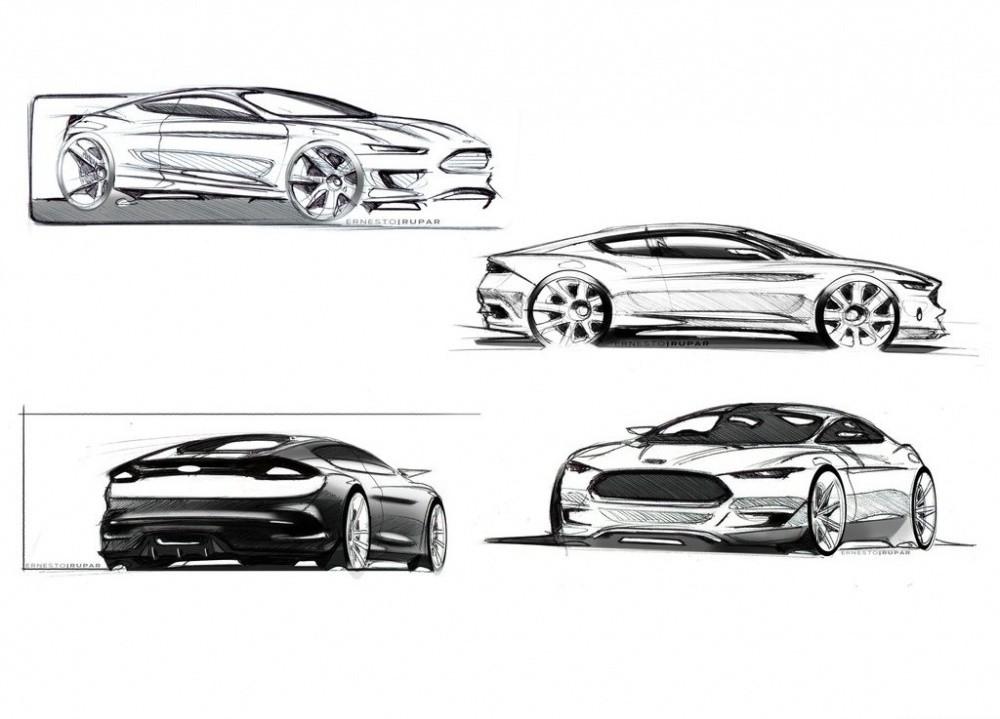 Ford Evos Concept : Design, hybridation, connectivité et