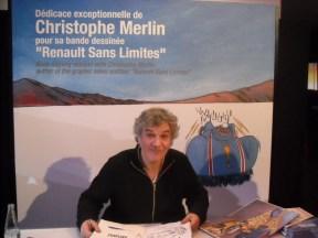 Christophe Merlin - dédicace Renault sans Limites - Atelier Renault mars 2013