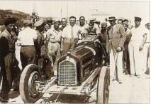 Enzo et Nuvolari avec une Alfa Romeo P3